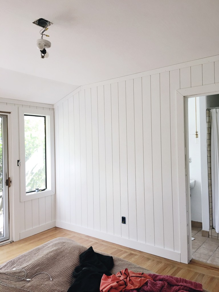 Our Pre-Painted Shiplap gave Brittany's master bedroom an amazing facelift this week.