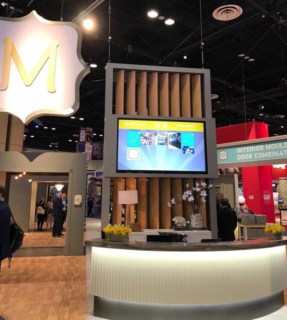 Metrie's booth at the International Builders' Show