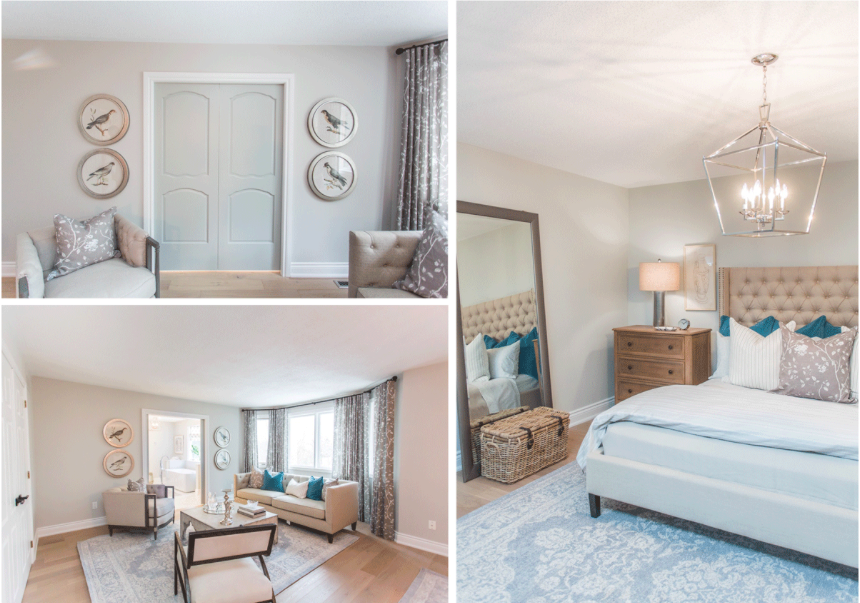 This master suite proves 'suite' dreams do come true with the little help from Metrie's French Curves Collection.