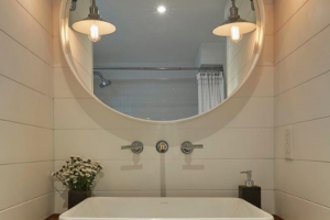 Scott McGillivray gave this bathroom a beautiful makeover using shiplap, for this episode of Buyers Bootcamp