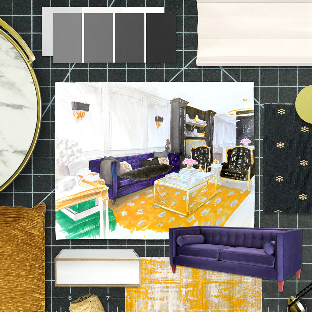 Metrie's moodboard inspired by Curated Home by Chrissy & Co