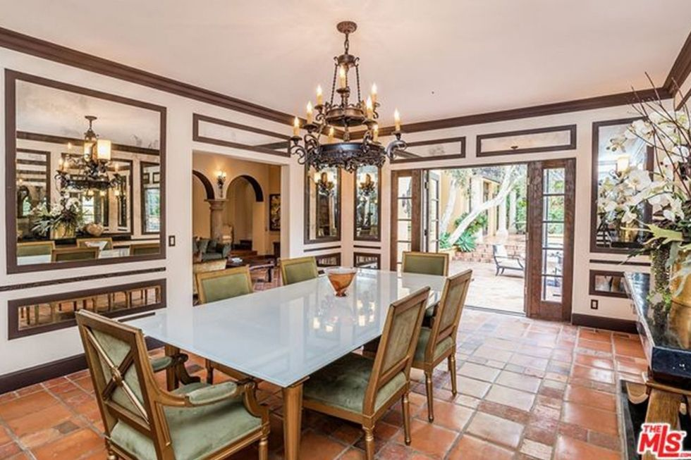Kendell Jenner's home boasts beautiful interior finishings in her traditional, yet open,  dining room.