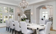 Kim Kardashian's resplendent dining room full of fabulous trim