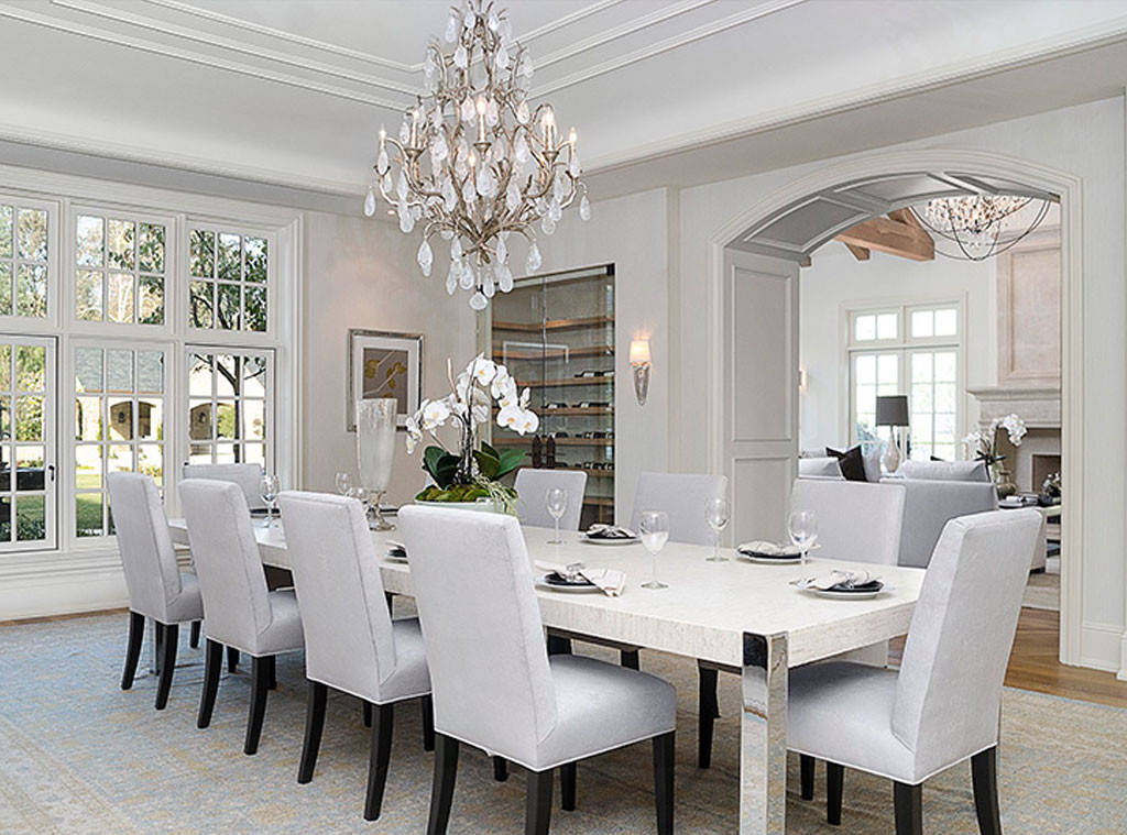 Kim and Kanye's posh dining room boasts magnificent interior finishings.