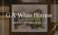 Monthly moodboard, courtesy of G.A. White Homes and Metrie's Very Square Collection