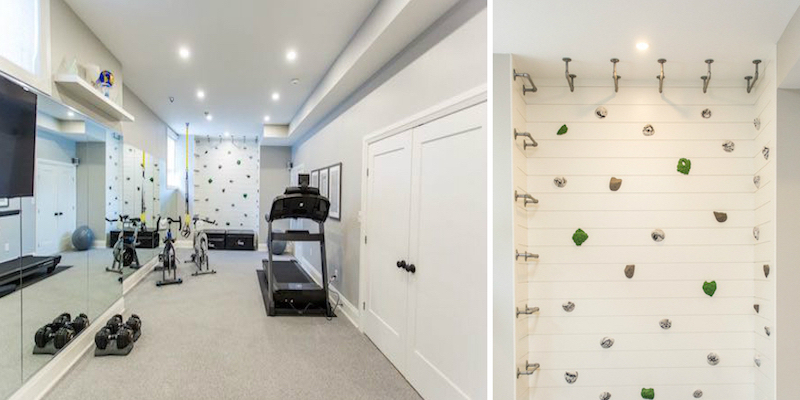 Metrie's True Craft Collection's interior doors and Very Square Collection's interior finishings are integrated into this home gym on Bryan Inc. episode 12.