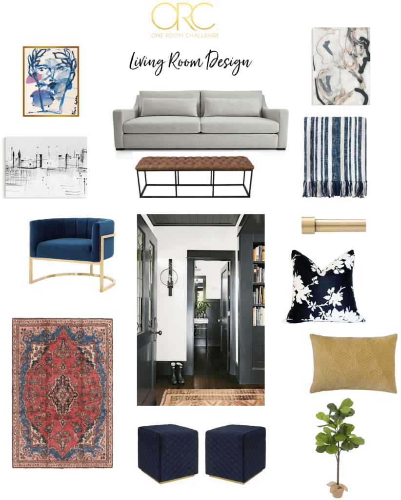 Beginning in The Middle's living room moodboard