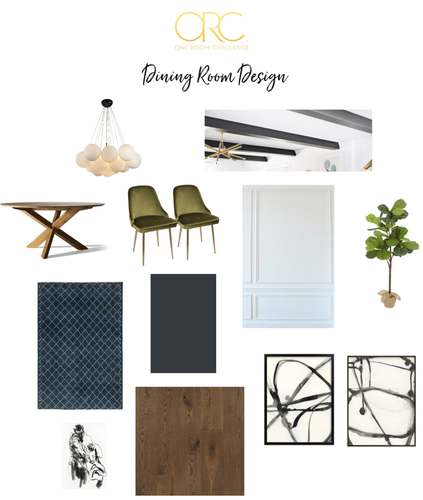 Beginning in The Middle's Dining Room moodboard