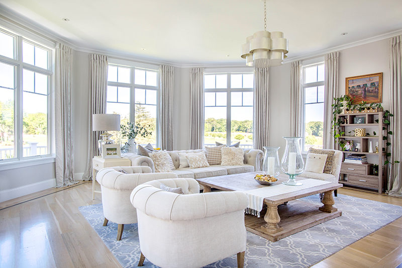 Clean neutrals make this living room the heart of the home.