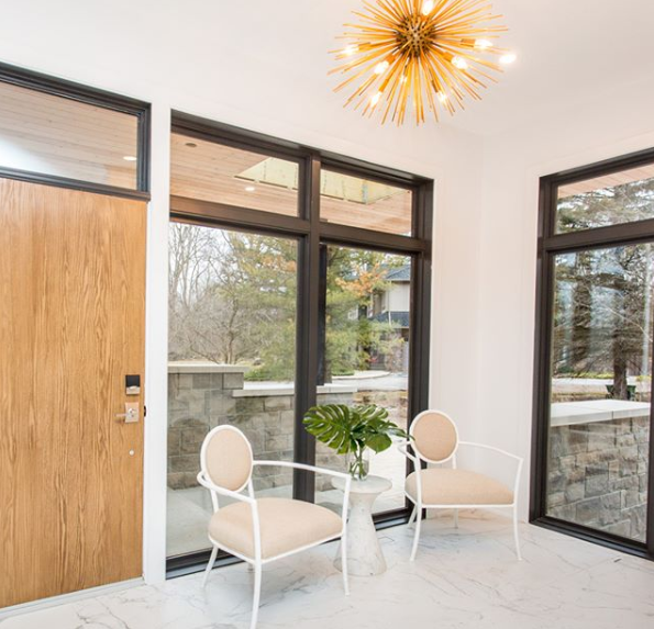 Bryan and Sarah create a bright and beautiful entrance in their clients' home