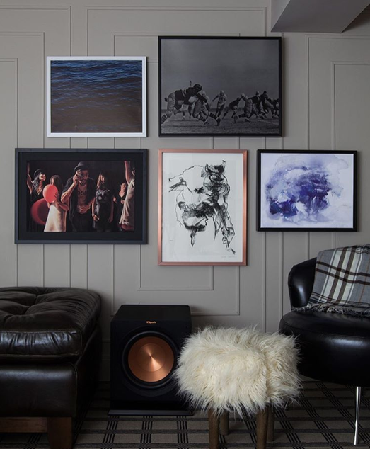 Gwen created a gorgeous gallery wall, using Metrie's panel mould