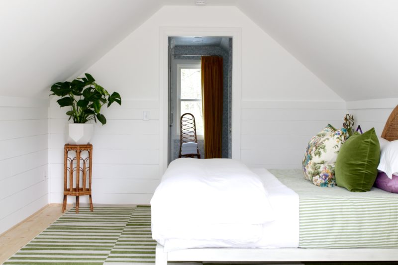 Angela, of The Painted House uses Metrie's shiplap throughout her attic retreat