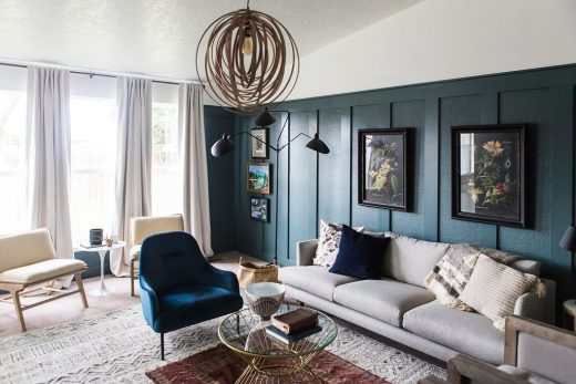 Simply Grove reveals a moody living room for the One Room Challenge