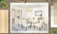 Metrie's monthly moodboard, inspired by Calista Interiors' divine dining room