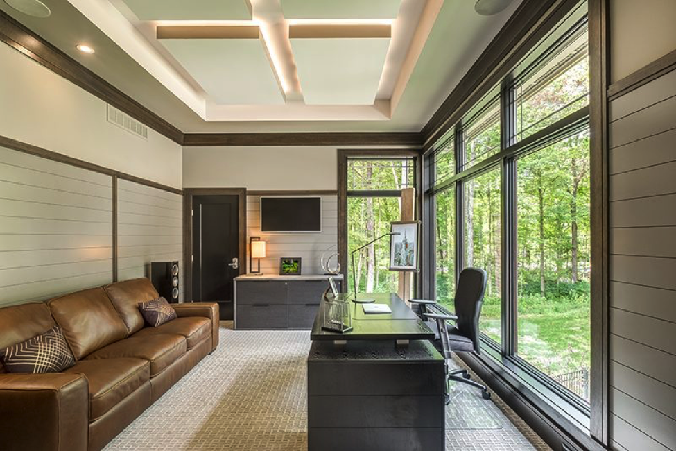 G.A. White Home's gorgeous office in the woods
