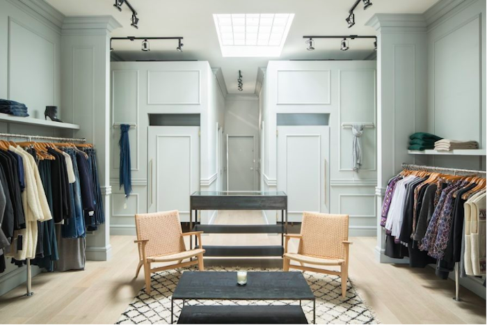 Sophie Burke transformed a boutique using Metrie's Fashion Forward interior finishings.