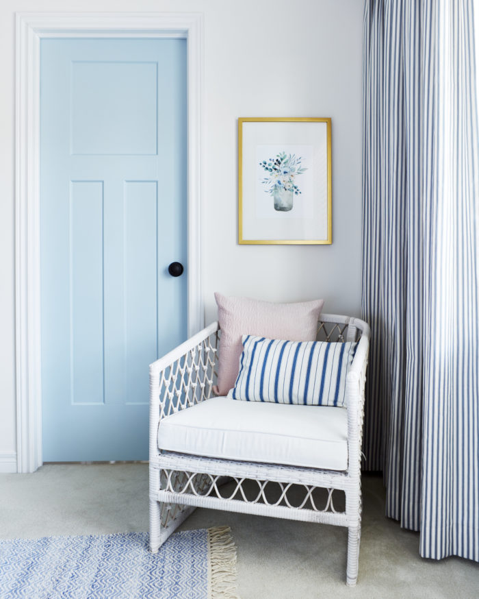 Sarah Gunn uses a door from Metrie for her master closet makeover