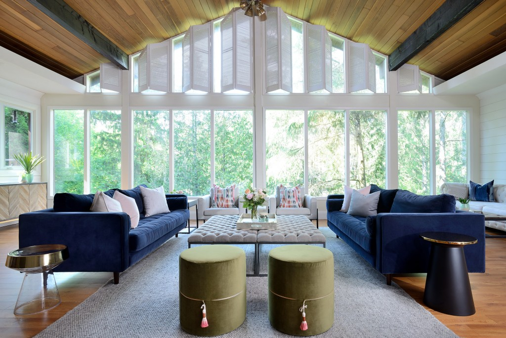 Designer and influencer Lisa Canning elevates her cabin home with Metrie's shiplap.