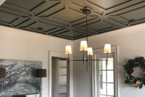 Byrom Building Corporation created a gorgeous ceiling treatment, using flat stock