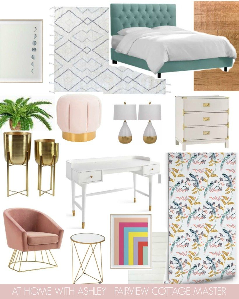 At Home With Ashley's moodboard for her One Room Challenge space