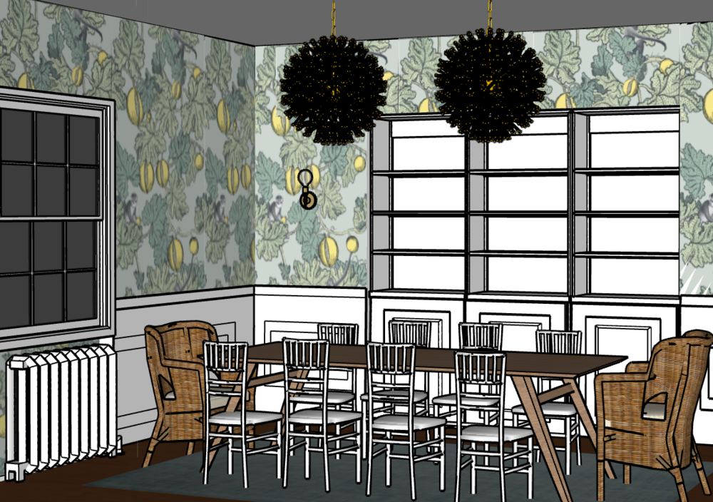 Michelle Gage's design concept for her dining room