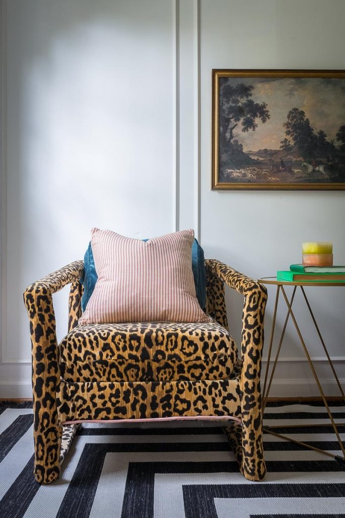 Jewel showcases a stunning animal print chair for the Fall 2018 One Room Challenge.
