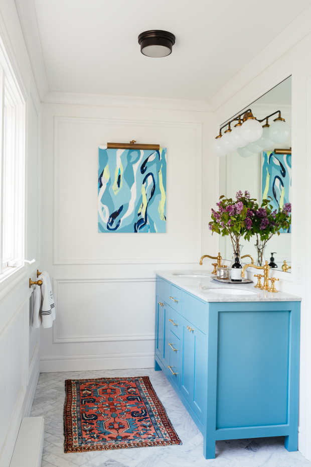 Erin Kestenbaum's bathroom reveal for the Spring 2018 One Room Challenge