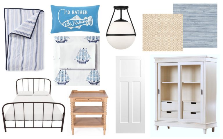 Sarah Gunn shares her plans of incorporating Metrie's interior finishings and Masonite's Winslow panel door in her son's bedroom for Fall 2018 ORC.