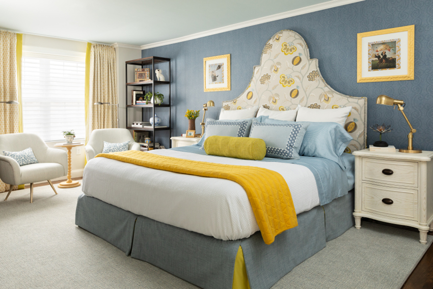 Linda Holt uses Metrie's regional trim to elevate her master bedroom.