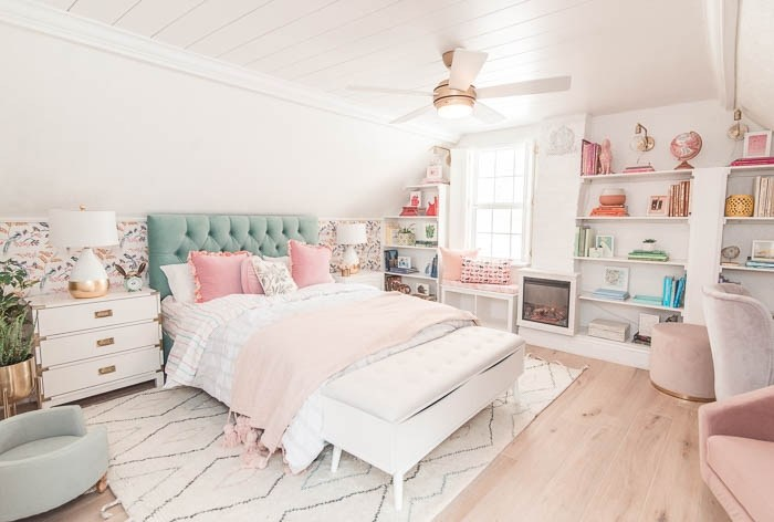 At Home with Ashley's colorful bedroom reveal