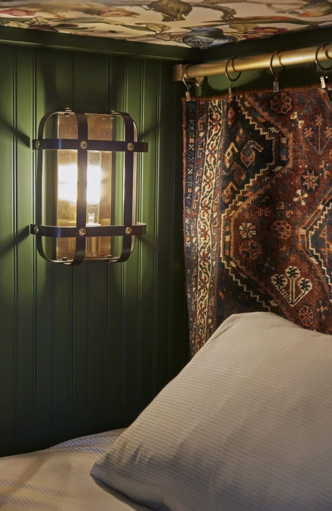 Dee used Metrie's beaded paneling from Metrie for the walls of the bunk beds