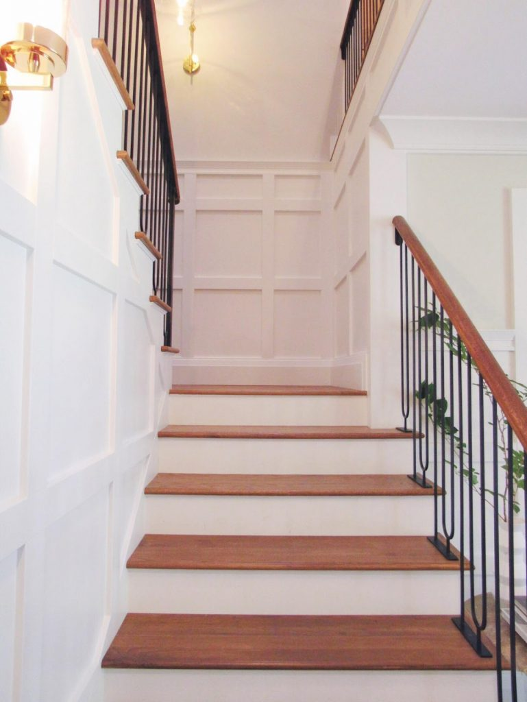 Emily used Metrie's trim for this gorgeous staircase
