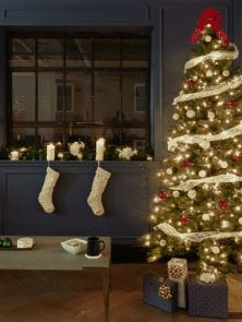Christmas trees and moulding go together perfectly