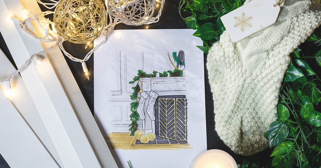 Rambling Renovators looked to Metrie moulding for her festive fireplace