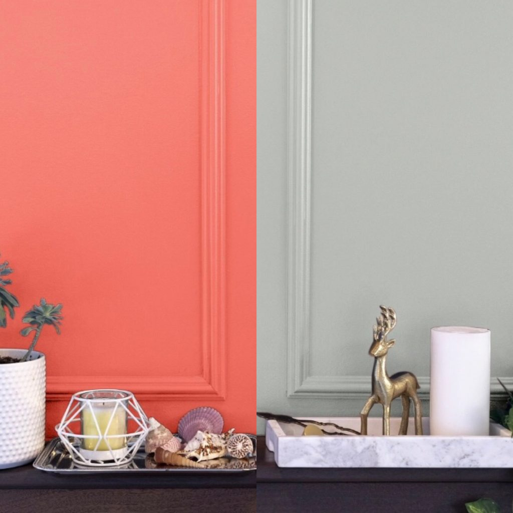 The Colors of the Year look fabulous when paired with moulding