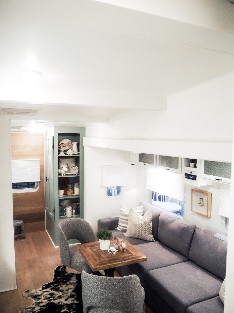 Jo Alcorn's amazing tiny home reveal with Metrie's interior finishings