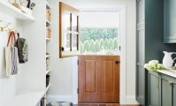 Emily Henderson's beautiful mudroom came together with Metrie's interior finishings