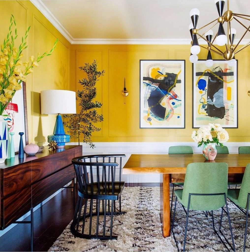 Dabito's encapsulates Summer in this bright yellow dining room designed as part of the One Room Challenge