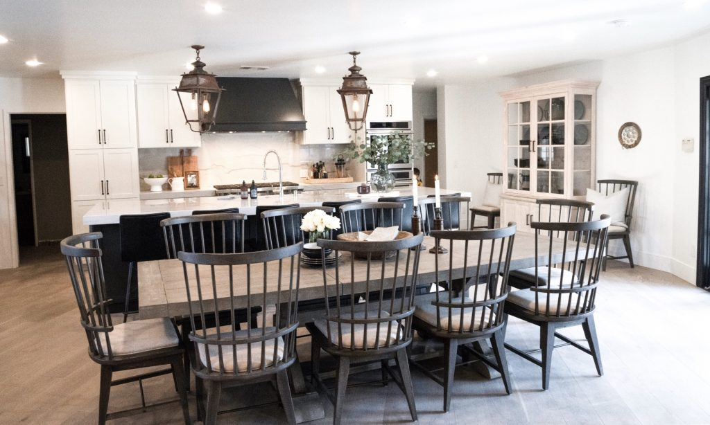 Nate and Jeremiah used Metrie's trim to transform this kitchen and dining area