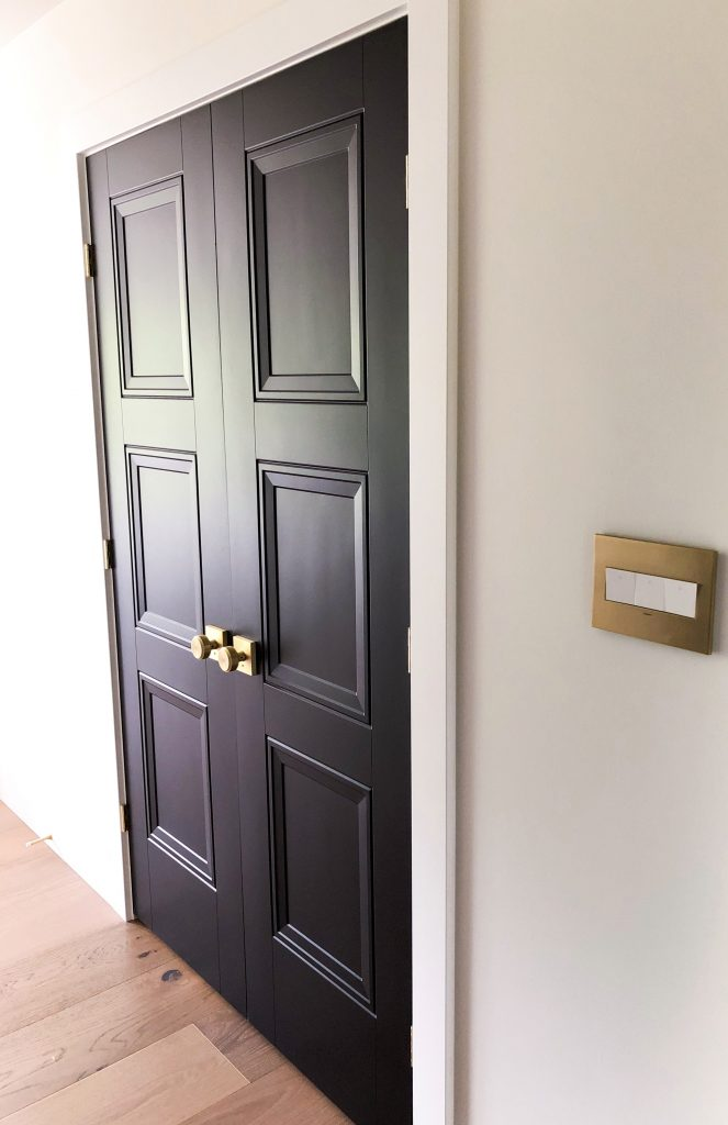 With Mable transformed this space using the Livingston Door