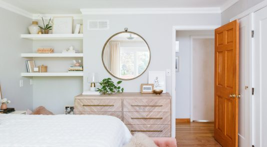a Pretty & Calm space featuring Metrie's trim