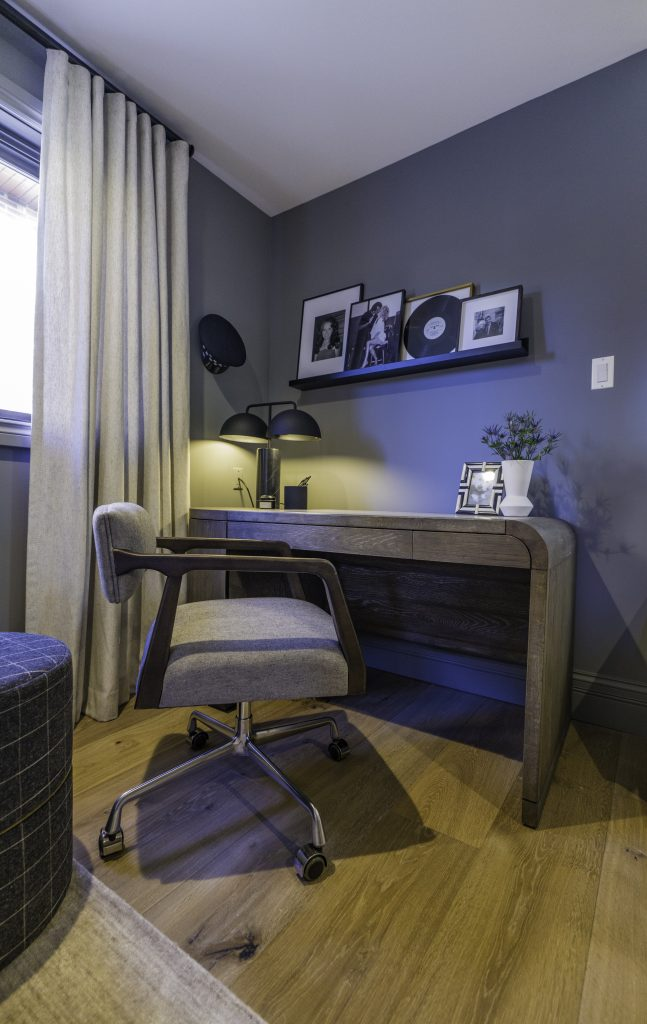 Redesigned office den for Melissa McCarthy's aunt and uncle, on Celebrity IOU