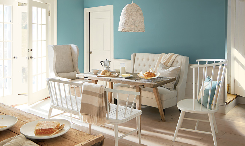 Dining Room with Aegean Teal Walls