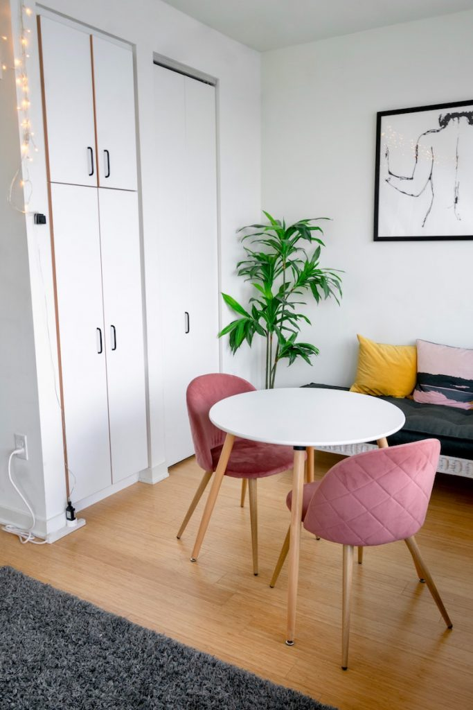 Table and Chairs in a Modern Bedroom