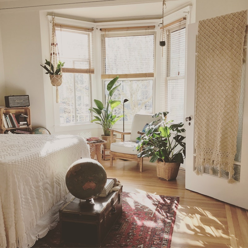 Bedroom with Plants - Spring Bedroom Makeover