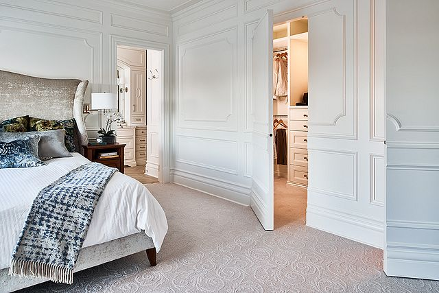 Bedroom with Crown Moulding