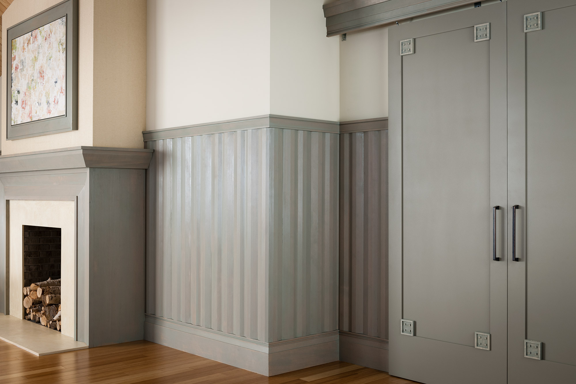 add an authentic craftsman style texture to your walls with mouldings in a gray tone
