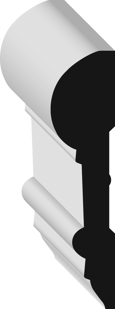 Metrie 298P Chair Rail