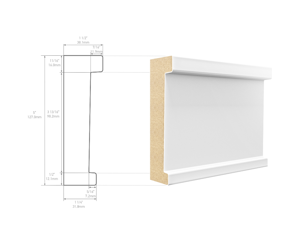 Metrie CTC1A1PMD08 Architrave